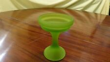 Vintage Westmoreland Glass Green Frosted Satin Compote Dish