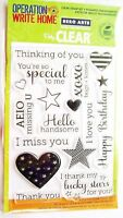 Year Round Card Sentiments Clear Acrylic Stamp Set Hero Arts Stamps CL582 NEW!