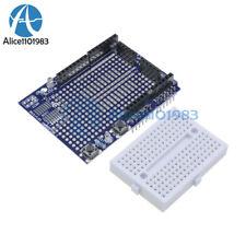 Atmega328P UNO R3 Arduino Prototype Shield ProtoShield + Mini Breadboard
