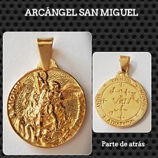 SAN MIGUEL ARCANGEL EN PLATA CHAPADO ORO GOLD SILVER ARCHANGEL SAN MIGUEL