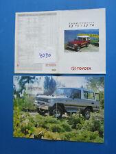 N°J.4090  / TOYOTA LAND CRUISER LJ73 / LJ70 catalogue en français janvier 1992