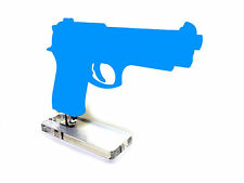 Universal Double Stack Pistol Display Stand Clear Acrylic 9mm 40s&w 10mm 45acp
