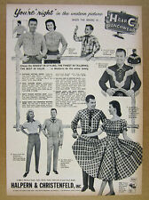 1958 H Bar C Ranchwear Western Shirts Pants Suits Dresses vintage print Ad