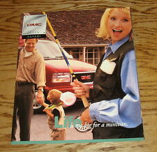 Original 1998 GMC Safari Sales Brochure 98