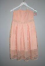 Apricot Lace Strapless Dress Size S BNWT #RI16