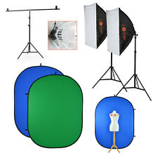 Greenscreen with Stand & LED Lighting Softbox Kit | Chromakey Backdrop Video