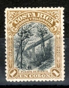 Costa Rica Scott 51 Birris Bridge UNUSED NG
