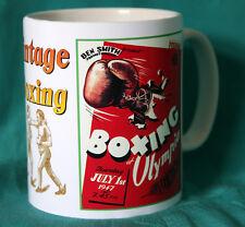 La BOXE. OLYMPIA 1947 programma Vintage Design Tazza. grande regalo. NUOVO. NUOVO con scatola