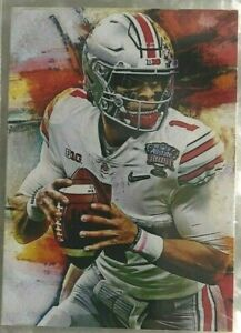 2021 Justin Fields 11th Overall Pick Limited Edition 5/25 Art Aceo Sketch Print