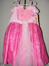 New Disney Store Deluxe Sleeping Beauty Princess Aurora Pink Costume Dress 3