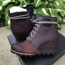 NEW Sorel PDX Wedge Boots Booties Cattail Womens Size 7 M US Brown