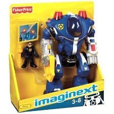 **BRAND NEW** IMAGINEXT DC POLICE ROBOT WITH ELEC. LIGHTS & SOUNDS BONUS FIGURE