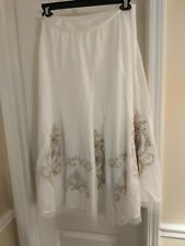Peter Nygaard White Cowgirl Style Square Dance Skirt 10 12