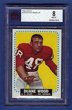 1964 Topps Football Duane Wood #109 SP (Rookie) Kansas City Chiefs BVG 8