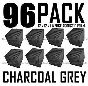 Acoustic Foam Studio Startup Pack 96 pcs Wedge  Soundproofing 12x12x1