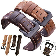 Universal Vintage Genuine Leather Wrist Watch Band Strap Quick Release 20/22 mm