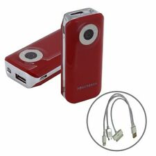 Cargadores y docks rojo para reproductores MP3