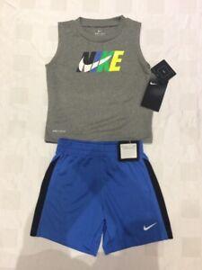 Nike Baby Boy's  Dri Fit Vest & Shorts -2 Piece Set (Size 24 Months )
