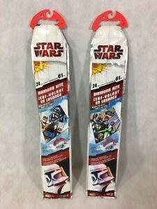 """Star Wars The Clone Wars Diamond Kite 24"""" Lot of 2 Jakks Pacific 12453 12452"""