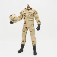 1//6 Scale Uniforms Outfits Coveralls Desert camo 12inch Action Figures B005 Body