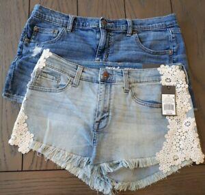 mossimo cream shorts size 5 daisy duke shorts