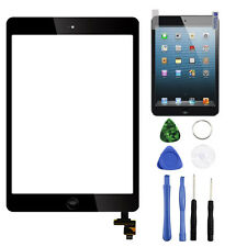 Black Touch Screen Glass Digitizer Replacement+IC chip+Home For iPad mini 1 2