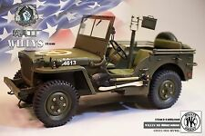 """1/6 Scale 12"""" Diecast  1/4 Ton 4x4 Utility Truck  Willys MB Military Vehicle"""