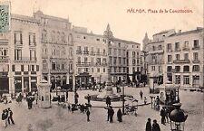 ESPANA SPAIN MALAGA PLAZA DE LA CONSTITUCION 1910 TO BAYONNE BASQUE