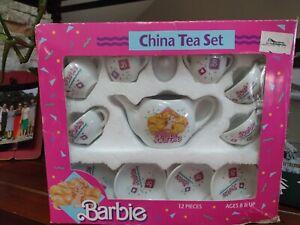 Barbie China Tea Set 12 Pieces Adorable!! Complete