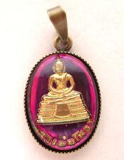SoHo® Anhänger pendant charm vintage bohemia oval Buddha pink goldbronze 1970´s