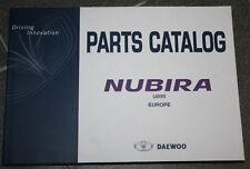 DAEWOO NUBIRA J200 Catálogo de piezas Regiones 04/2003 con dibujos explosión