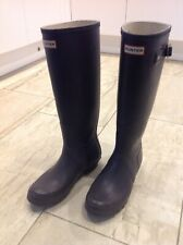 Hunter Wellies Ladies Aubergine Size 7