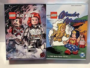 Lego 77905 Marvel Black Widow & 77906 DC Wonder Woman Comic-Con Limited Edition