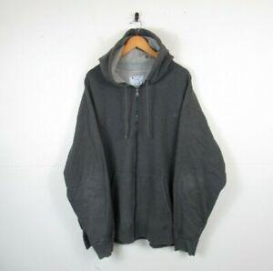 Mens CHAMPION Grey Full Zip Hoodie Oversized Sweatshirt - 3XL Big & Tall Stains