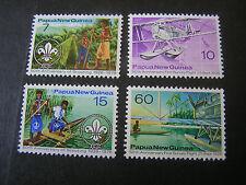 PAPUA NEW GUINEA, SCOTT # 437-440(4), COMPLETE SET 1976 BOY SCOUTS ISSUE MNH