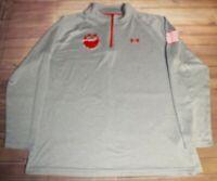 Under Armour HeatGear Tech ¼ Zip Long Sleeve Shirt Pullover Grey Mens XL 1242220