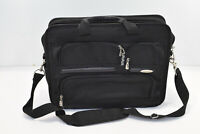 Samsonite Briefcase 1910 Laptop Zipper Black Nylon Luggage Business Bag Strap