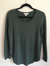 Forever 21 Womens Knit Top Long Sleeve Size Small Heathered Gray Rounded Hem