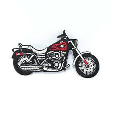 Embroidered Iron On Patch Logo Fire Rider Motorcycle Badge Fabric Sew Craft DIY