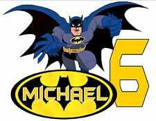BATMAN HAPPY BIRTHDAY T-SHIRT Personalized Any Name/Age Party Favor 2T-ADULT