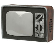 Halloween Prop Horror Vintage TV With Light & Sound Spooky Haunted House Retro