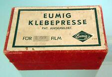 EUMIG KLEBEPRESSE per film 8 mm  con scatola VINTAGE