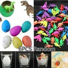 6Pcs Magic Dino Egg Growing Hatching Dinosaur Add Water Kid Child Inflatable Toy