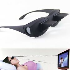 Lazy Glasses Horizontal Prism Spectacles Eyewear Reading Watching TV Lying Bed