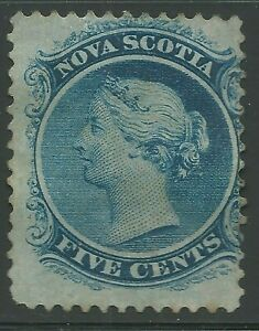 NOVA SCOTIA #10 - 5c blue - Unused-No Gum