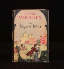 1959 The Rape of Venice Dennis Wheatley First Edition Historical Novel