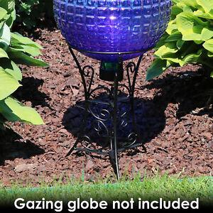 "Sunnydaze Scroll Gazing Ball Stand fits  10"" or 12"" Globes - Black Steel - 11"""