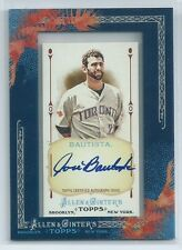Jose Bautista 2011 Allen & Ginter Blue Ink On Card Autograph Auto AGA-JB