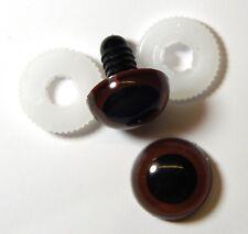 1 PAAR Sicherheitsaugen Kunststoffaugen Amigurumi Augen BRAUN 20 mm (KS)