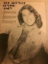 Andy Gibb, Shirtless, Full Page Vintage Clipping
